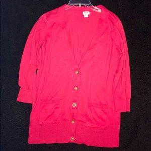 Classic Lightweight Red Cardigan